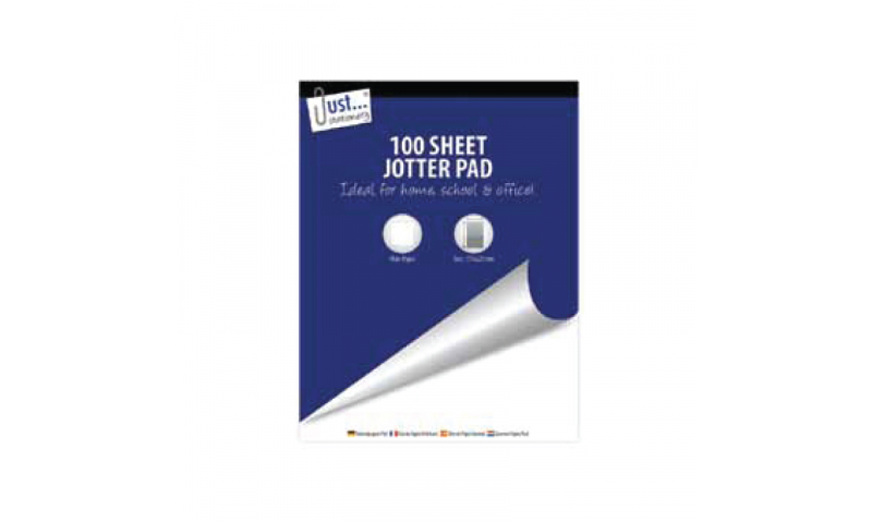"""Just Stationery Jumbo Jotter Pad 9x7"""" 100 Sheets (New Lower Price for 2021)"""