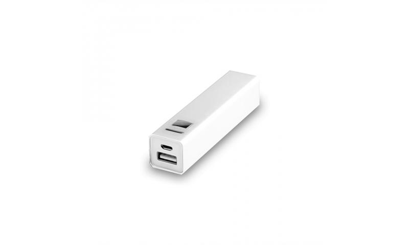 Rectangular Power Bank 2200mah with Micro USB Lead included