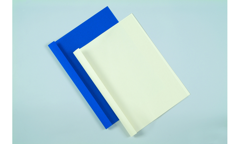 Fellowes Prestige A4 Thermal Binding Covers Blue Back & Clear Front, 100 Box, 1.5mm (Binds 1 - 8 Sheets)