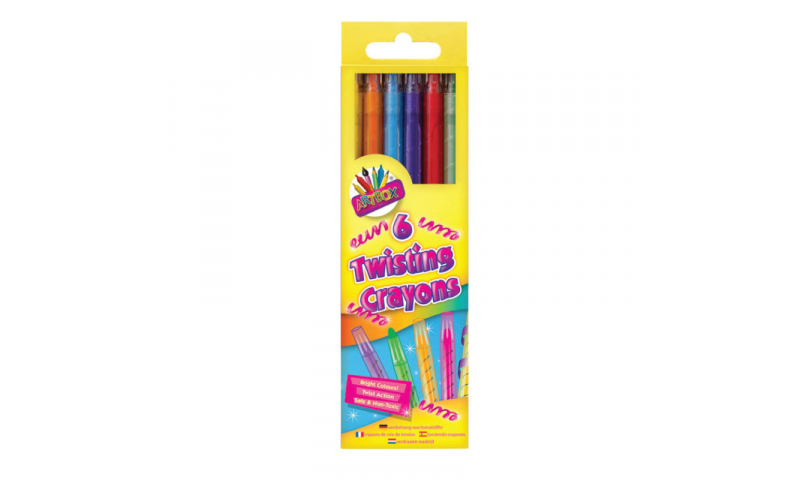 ArtBox Twistable Crayons - Pack of 6 colours