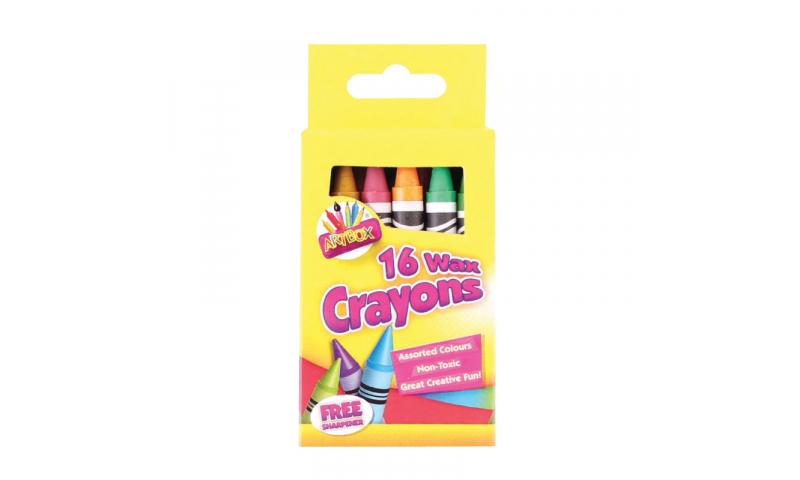 ArtBox Wax Crayons & Sharpener - Pack of 16