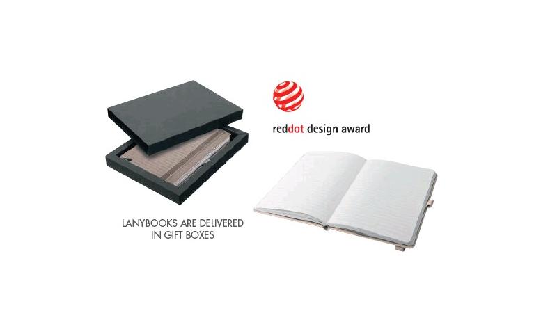 Santini A5 Elastic Notepad with Penloop, Gift Boxed inc. Santini Bruce Ballpen