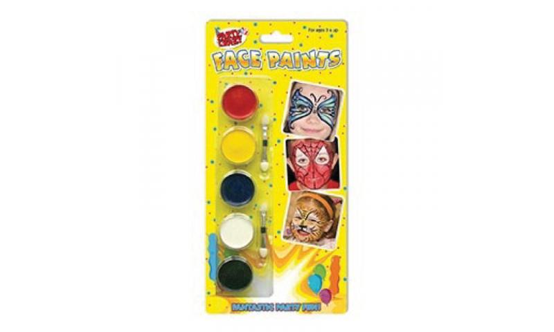 Party Crazy Face paints Set, 7pce Carded