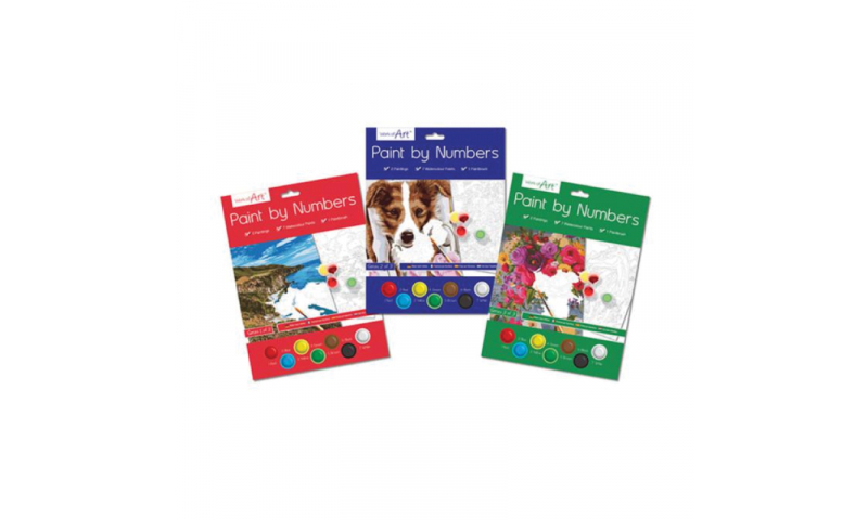 ArtBox Painting By Numbers Kit - Adult Titles - 3 Asstd (New Lower Price for 2021)