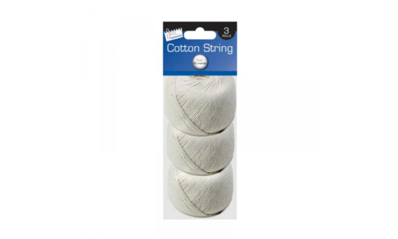 Just Stationery Balls of 40g String, 3 Pack
