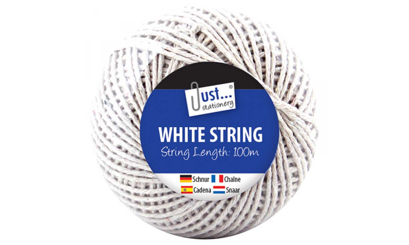 Just Stationery 100m Large 100m Ball of White String