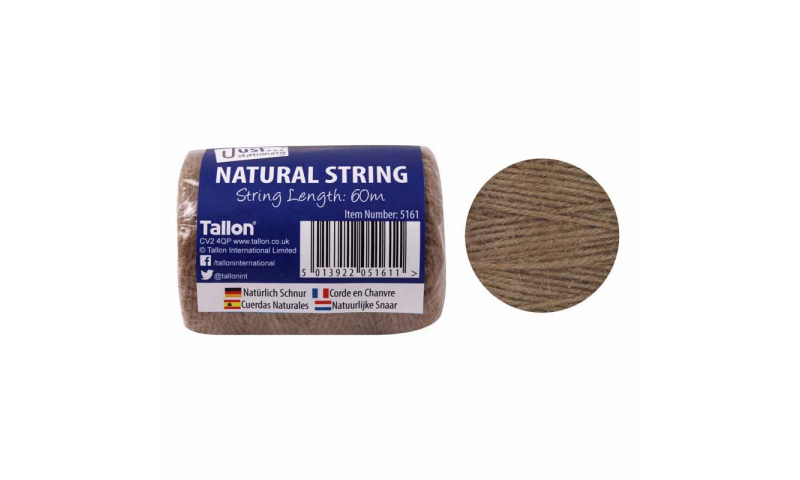 Just Stationery Natural H/Duty Ball of String 60m (New Lower Price for 2021)