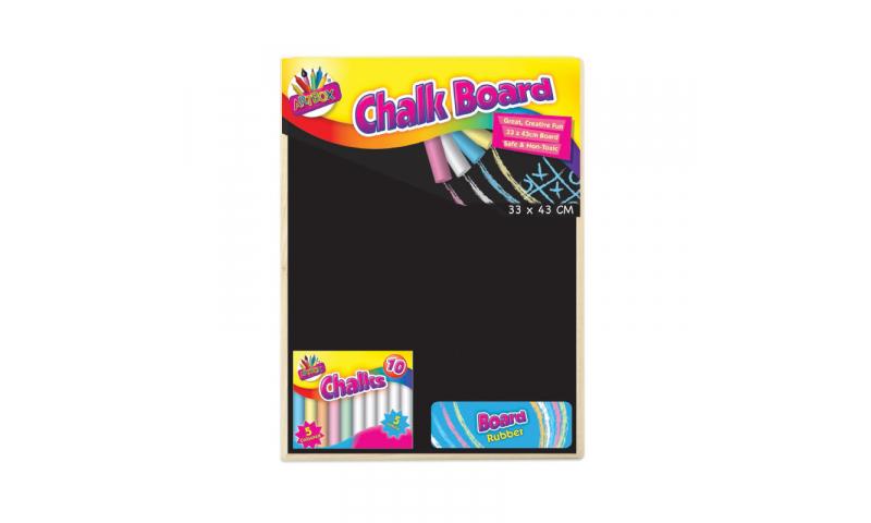 ArtBox Small Blackboard with Chalk Erasers 22 x 30cm