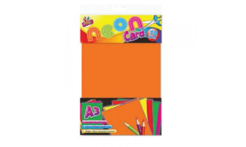 ArtBox Neon Craft Activity Paper, 4 Asstd, A3 10 sheets