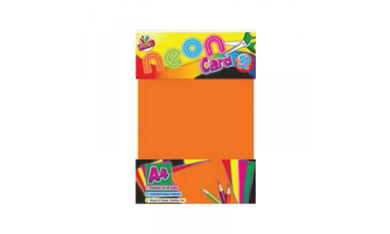 ArtBox Neon Craft Activity Paper, 4 Asstd, A4, 15 sheets (New Lower Price for 2021)