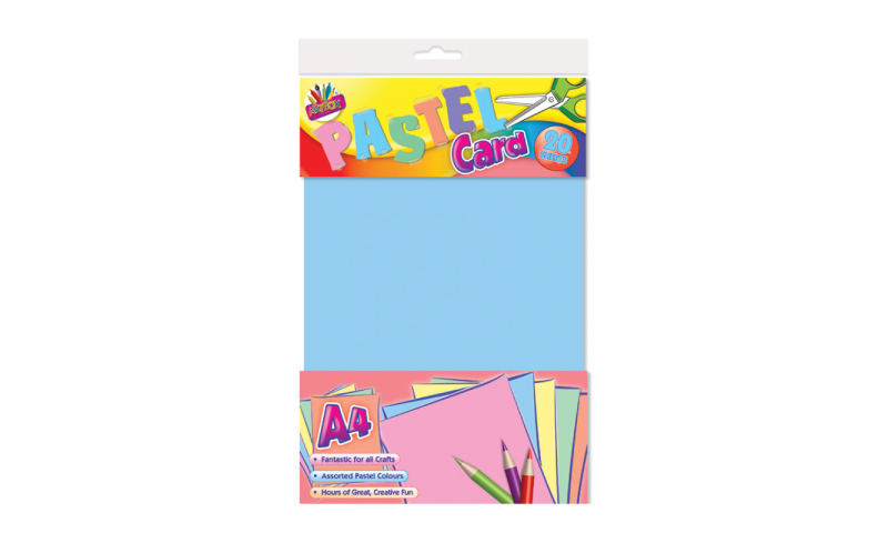 ArtBox Pastel Craft Activity Paper. 4 Asstd, A4, 15 Sheets  (New Lower Price for 2021)