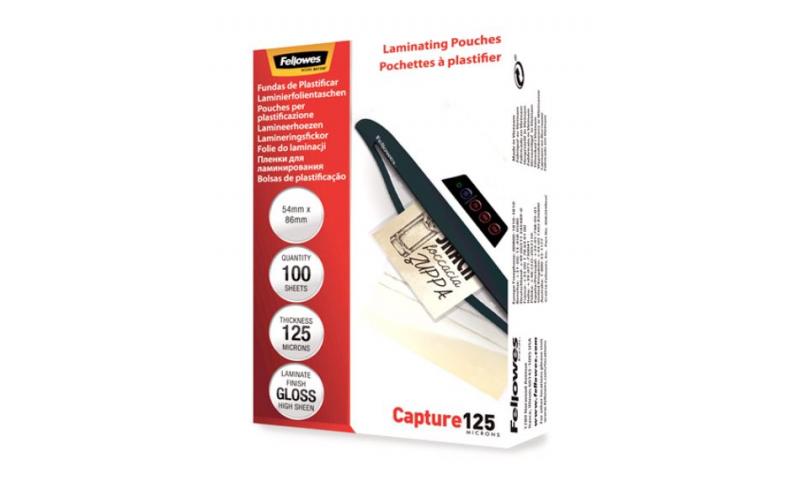 Portfolio 54x86mm 250mic Lamination Pouches - Box 100