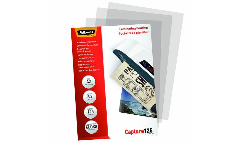 Fellowes A2 125mic (250mic) Lamination Pouches - box 50