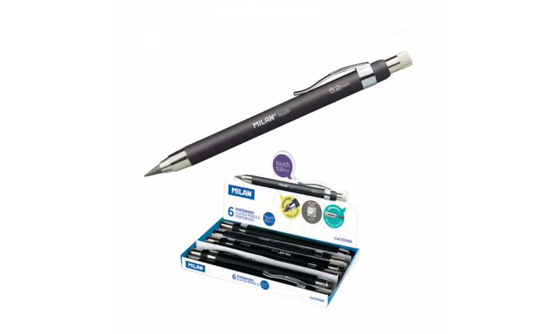 Milan Clutch Pencils, Jumbo 5.2mm lead with Sharpener.  (New Lower Price for 2021)