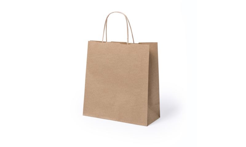 Eco Paper Bag Rope handles & Gusset CENTION, Size: 22 x 23 x 9 cm