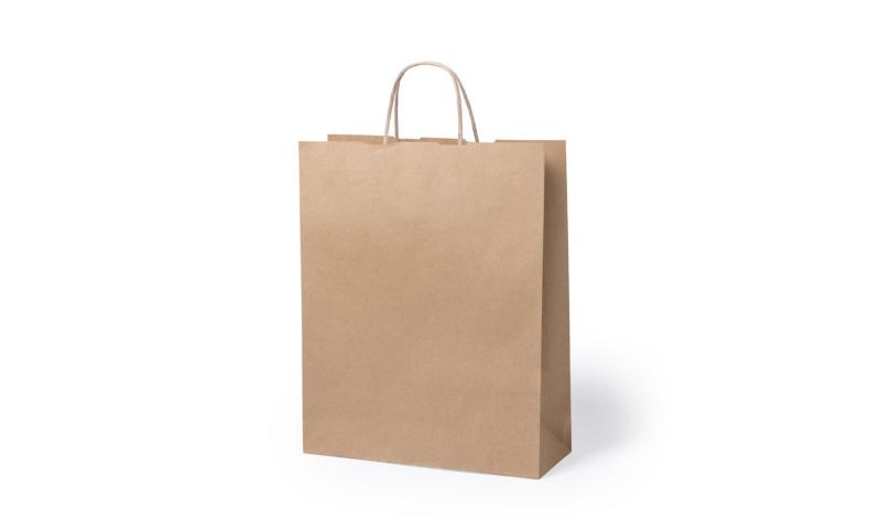 Eco Paper Bag Rope handles & Gusset.  Size: 32 x 40 x 12cm
