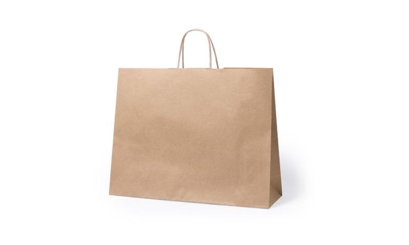 Eco Paper Bag, Rope Handles & Gusset.  Size: 41 x 32 x 12cm