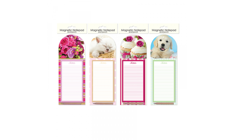 Just to Say Magnetic Notepad with Pencil, 4 Asstd