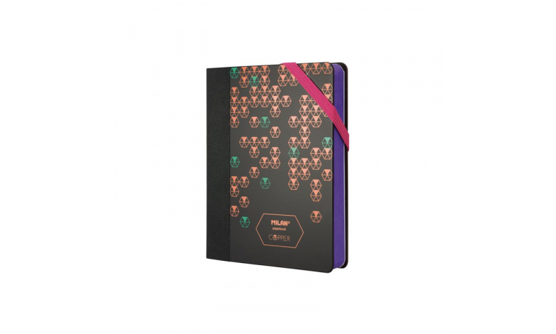 Milan Paperbook Copper Print, Pocket, 80g White paper, Dotted Pages