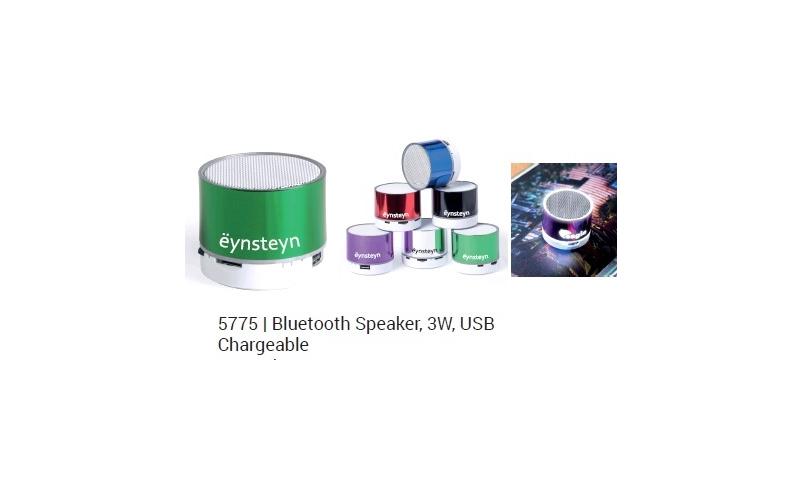 Ëynsteyn Bluetooth Box Speaker, 3w, USB Chargeable, Asstd Colours