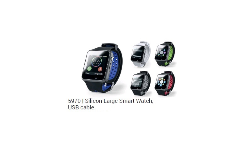 """Ëynsteyn Electronic Smartwatch, Silicon Strap, 1.54"""" Screen, USB Chargeable, Cable included"""