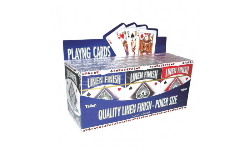 Playing Cards, Large, Linen finish, in Display box