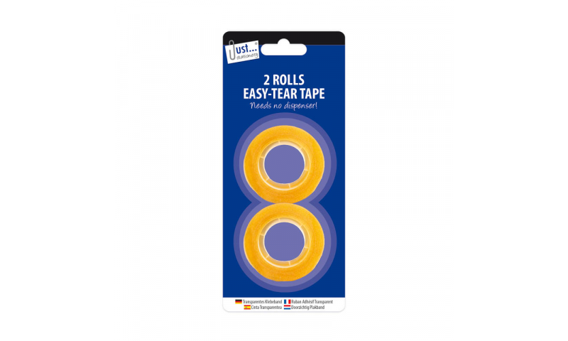 Just Stationery Clear Cellotape 18mm x 33m Twinpack Carded