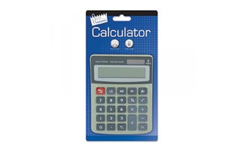 Just Stationery Med 8 Digit Desktop Calculator, Dual Power (New Lower Price for 2021)