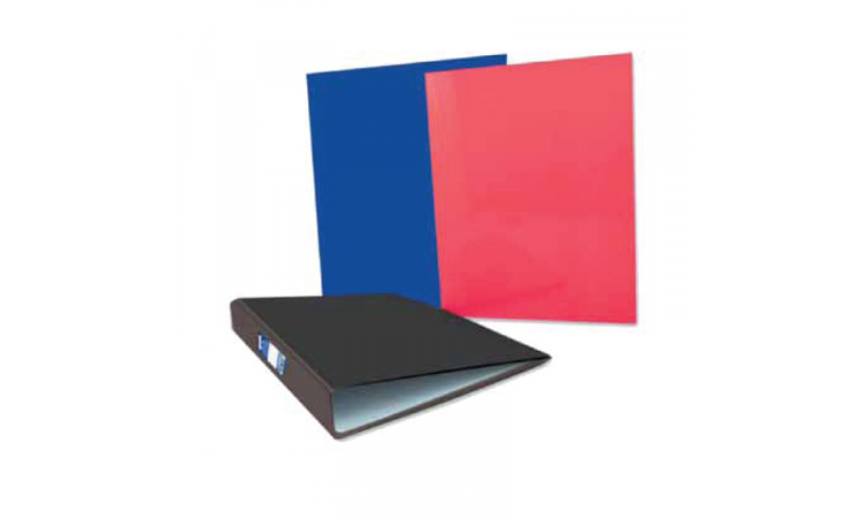 Just Stationery A4 Ring Binder paper over Board, 3 Asstd