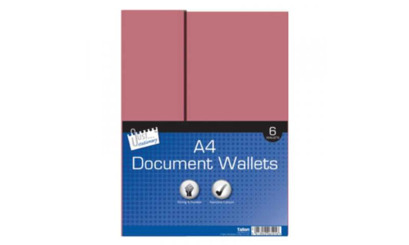 Just Stationery Card Document Wallets, 6 Pack Asstd (New Lower Price for 2021)