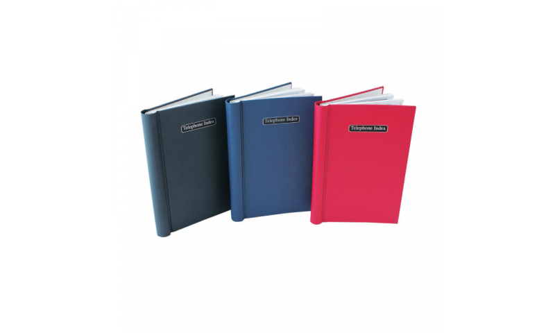 Just Stationery A5 Telephone Index Book with wiro binding