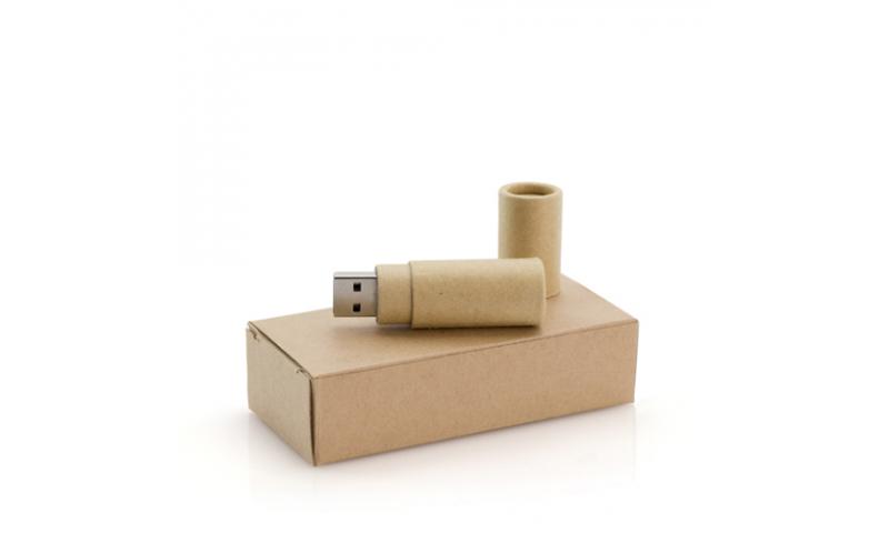 Ëynsteyn Recycled Cardboard Tubular USB Memory Stick in Recycled Box, 16gig