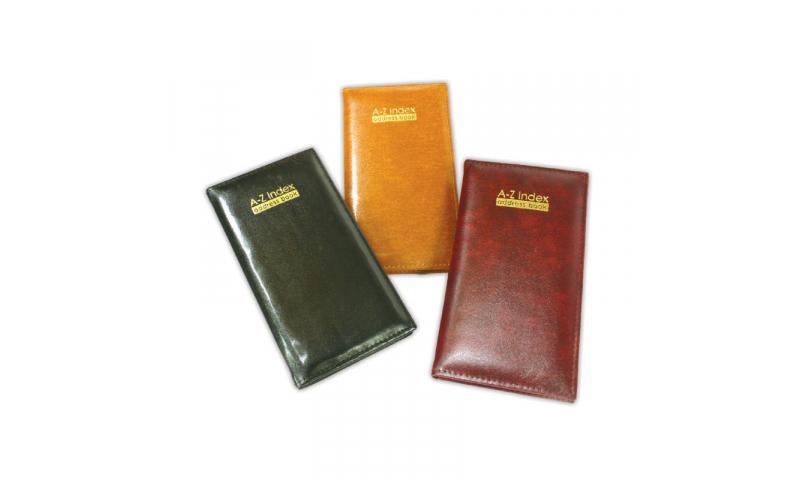 Just Stationery Address Book, slim padded A-Z, 3 Asstd