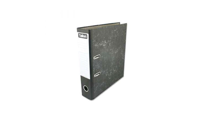 Just Stationery A4 Lever Arch File with Metal Rado Clip, Black