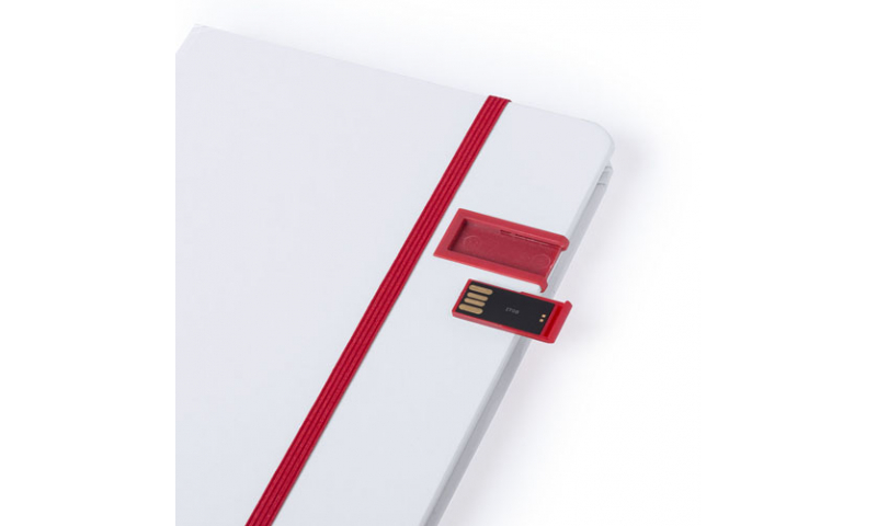 Ëynsteyn A5 Ruled 100 Page Notebook with built in 16gb USB Stick, Asstd Colours