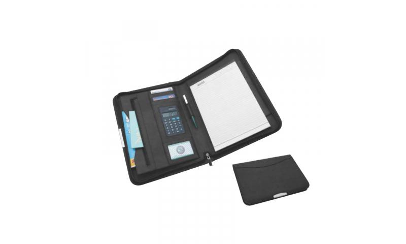 Santini Imitation Leather Conference Folder Portfolio with A4 Writing Pad, 30 Sh, Calculator, 8-Digit
