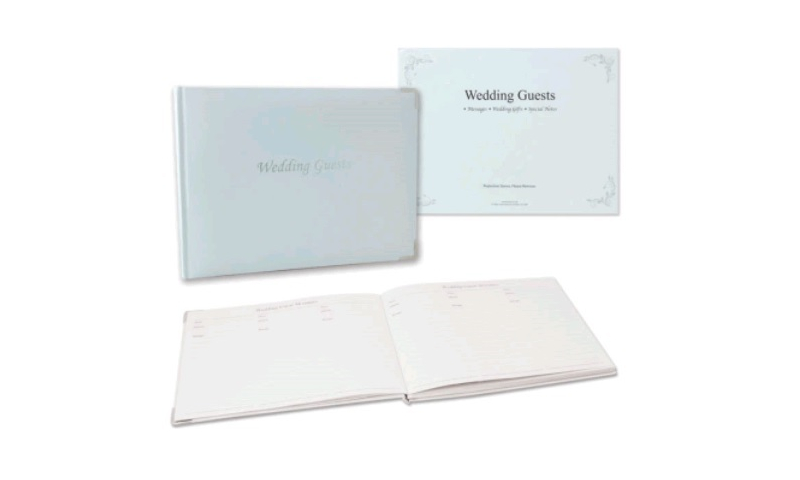 Wedding Guests Book in white Presentation box
