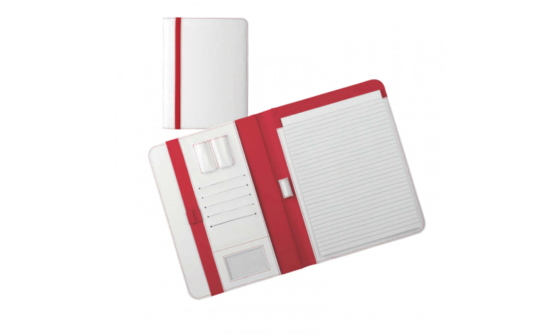 Santini  Imitation Leather Conference Folder with A4 Lined Writing Pad, 20 Sh.