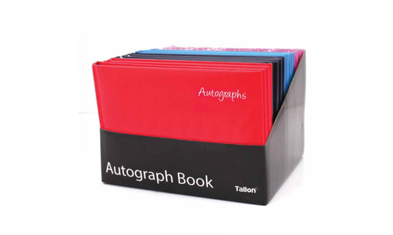 Just Stationery Autograph Book in Counter Display