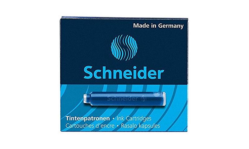 Schneider European Ink Cartridges, box of 6  blue