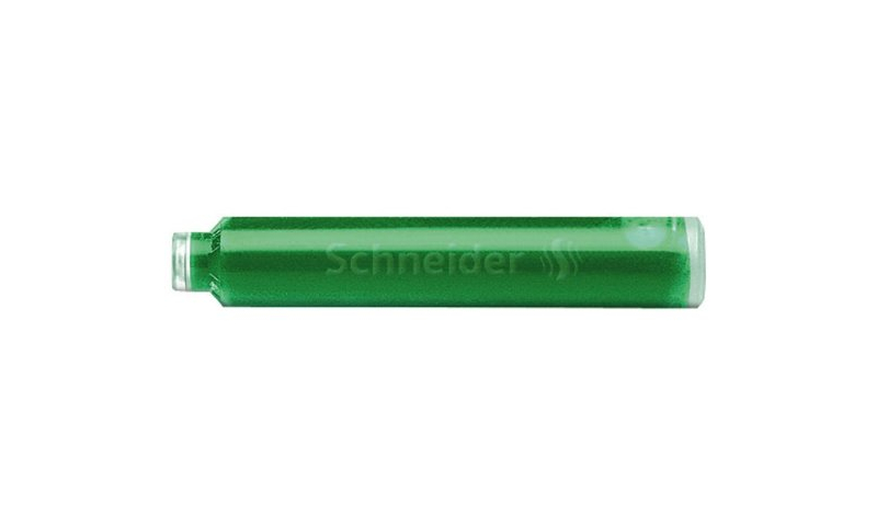 Schneider European Ink Cartridges, box of 6  green