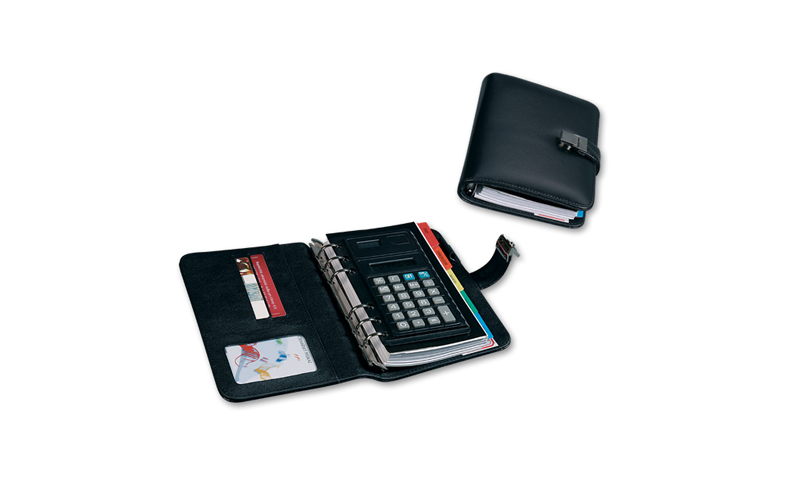 Santini Overprinted A5 Size Personal Organiser Filled PVC Cover, Standard 6-Ring Fitting