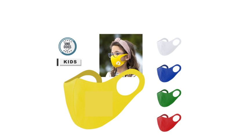 Childrens Re-useable Soft Shell Face Mask, Asstd Colours