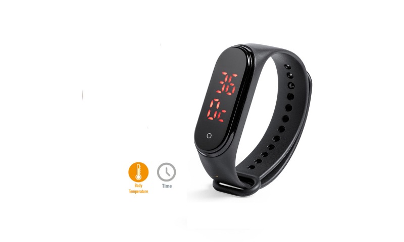 Body Temperature Thermometer LED Digital Watch