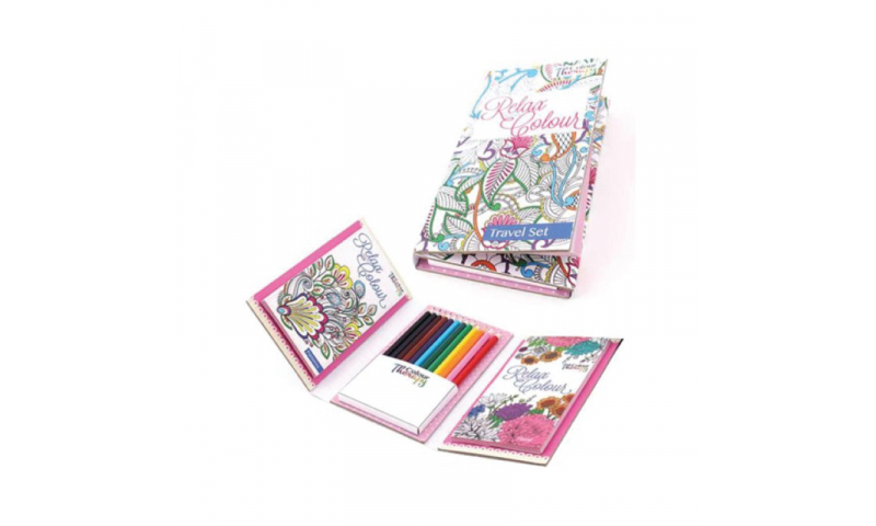 Colour Therapy, Relax with Colours Travel Set with 12 Pencils
