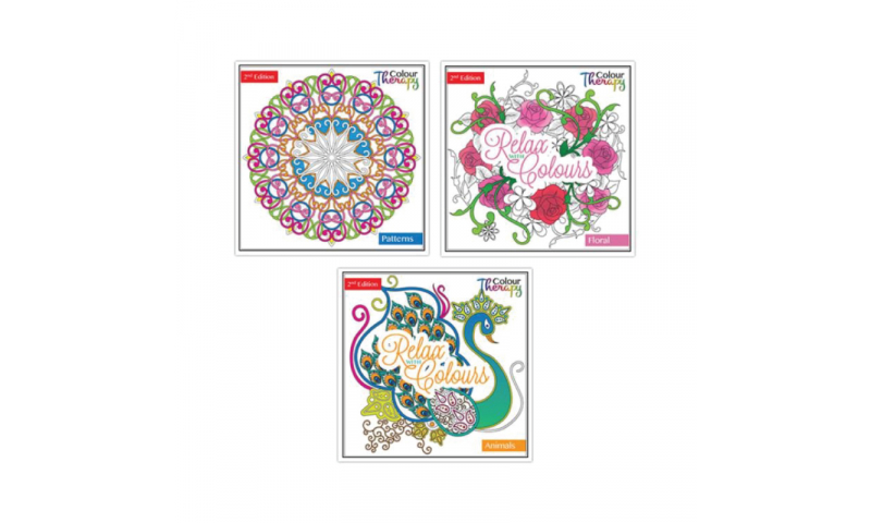Colour Therapy Adult Colouring Books, 3 Asstd Series 2
