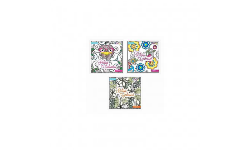 Colour Therapy Adult Colouring Books, 3 Asstd Series 3 (New Designs for 2020)