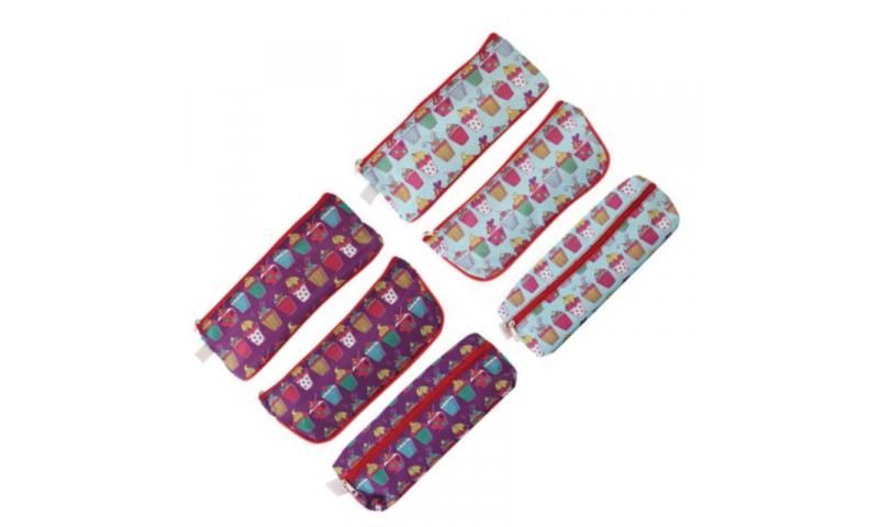 Just Stationery Cupcake Pattern Pencil Case, 2 Asstd