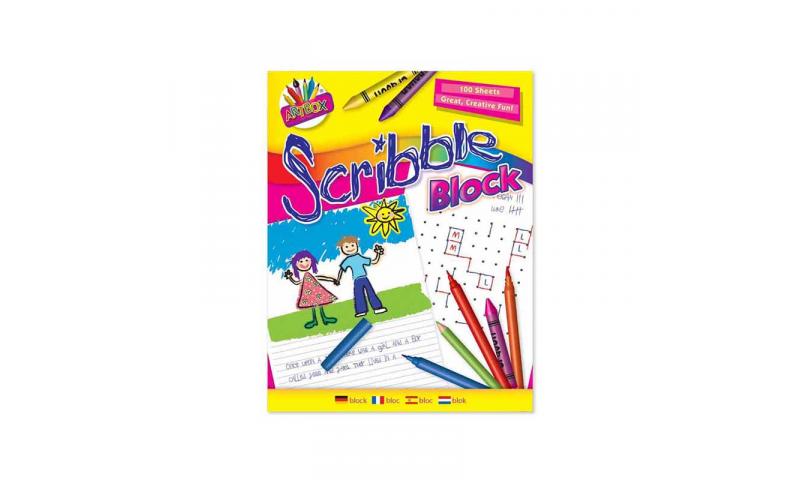 Artbox 100 Sheet Scribble Block 176 X 226mm