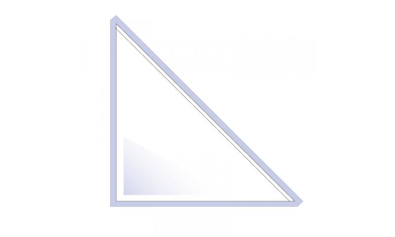 Flipfile Self Adhesive Triangle Corner Pockets, 120mm High x 120mm Base